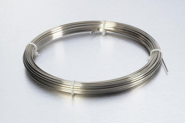 2.85 x 1.45mm Oval Stainless Wire - Hard (COIL 30 GRM)